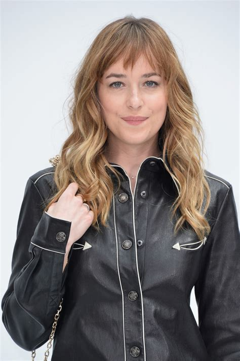 how to cut bangs like dakota johnson dakota johnson long wavy cut with bangs dakota johnson