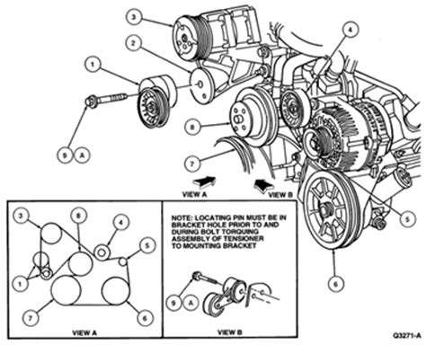 2002 ford focus serpentine belt diagram solved serpentine belt routing for a 2002 ford focus fixya