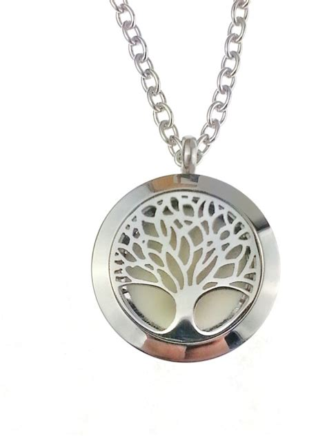 oil diffuser necklace essential oil diffuser necklace stainless steel tree of life