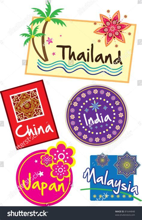 Kofferaufkleber Thailand by Travel Sticker Stock Vector 81644848