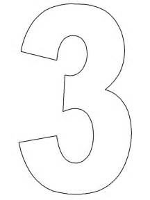 number three template search results for number 3 printable templates