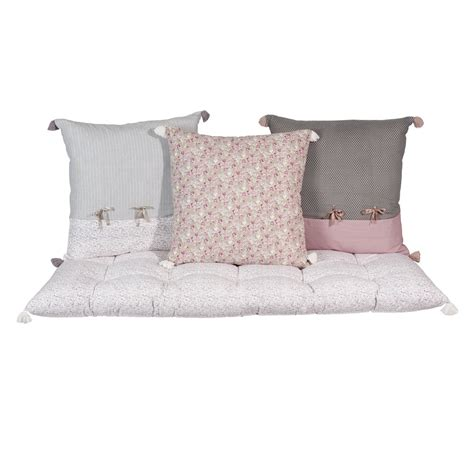 cuscini materassi 3 cuscini materasso in cotone pimprenelle maisons du monde