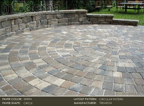 Circular Paver Patio Pavers Pavers Shown Here Is Tremron Circle Pavers In In A Circular Patio