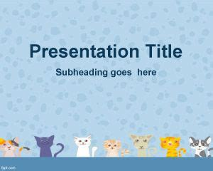 Cat Powerpoint Template by Cats Background For Powerpoint