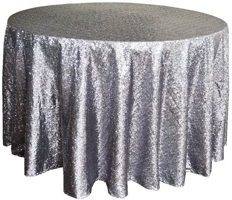 Sequin Table Cloths by Silver Sequin Table Cover Linens 132 Quot