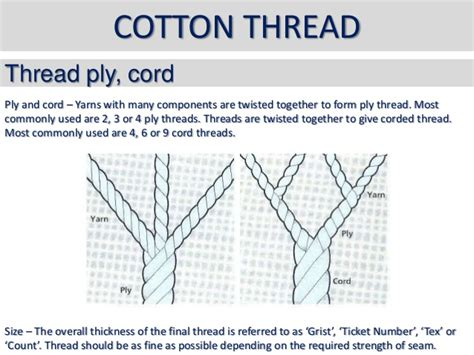 difference between corded and combed yarn use of sewing threads and types