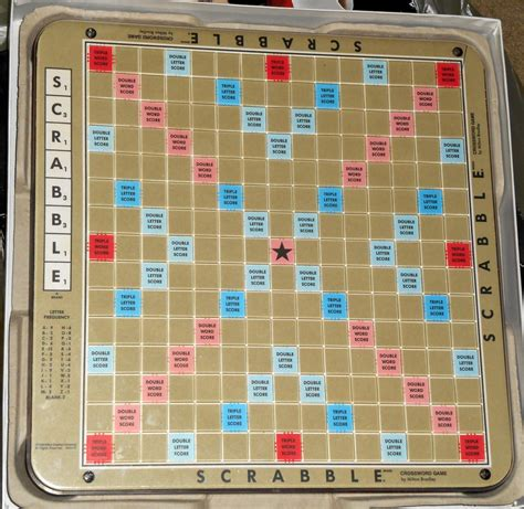 scrabble rotating board sold out 1989 scrabble deluxe edition turntable rotating