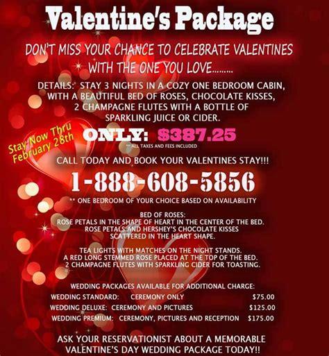 valentines packages pigeon forge and gatlinburg cabin specials alpine chalet