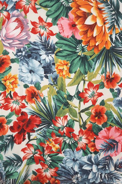 free printable tropical flowers hawaiian printed fabric nice for the dining and living