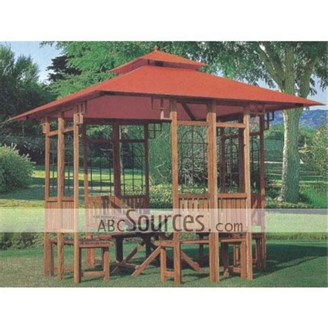 Outside Screened Gazebo Wholesale Brown Outdoor Wood Made Screened Gazebos Lc111811112