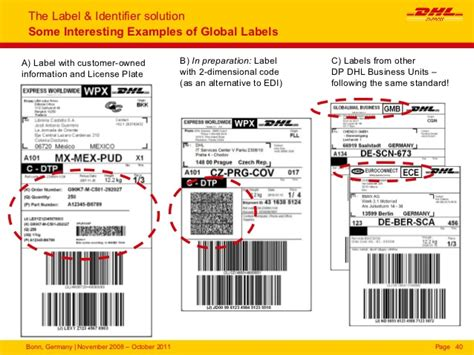 2012 03 Basics Of Label And Identifier Dhl Shipping Label Template