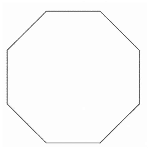 octagon template simple shapes octagon coloring pages