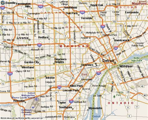 printable detroit area map location of belle isle park