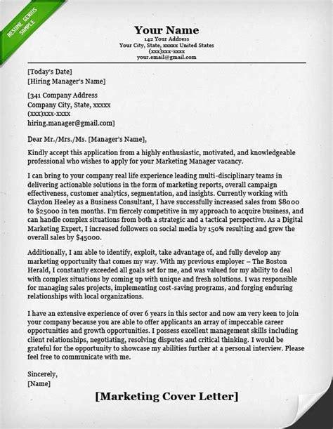 marketing cover letter marketing cover letter