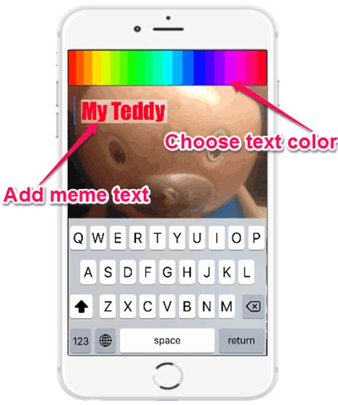 Add Text Meme - iphone app to make gifs with live audio and filters odio
