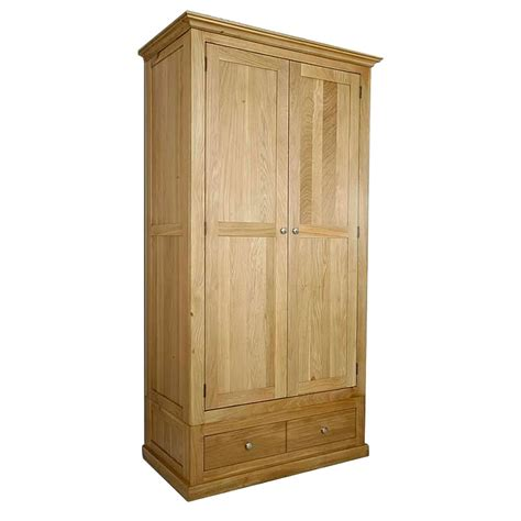 50 solid oak wardrobe with drawers glenmore