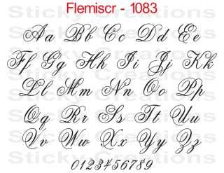 arts and letters 2 1083 custom fancy script lettering customized vehicle 1083