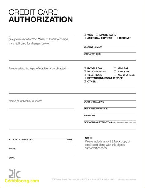 Free Credit Card Authorization Form Template Word by Credit Card Authorization Form Image Collections