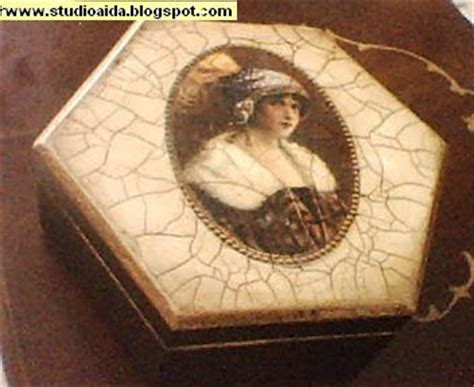 Decoupage Crackle - crafts and decorative paintings decoupage crackle finish