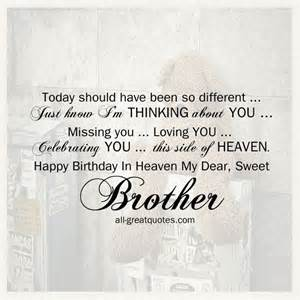 Missing Birthday Quotes Brother Birthday In Heaven Heaven Images Free Birthday