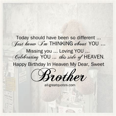 Missing On Birthday Quotes Brother Birthday In Heaven Heaven Images Free Birthday