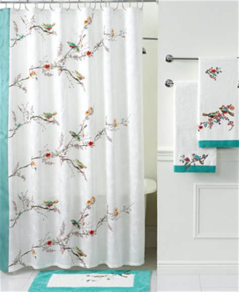 bathroom shower curtains and accessories lenox simply bath accessories chirp shower curtain