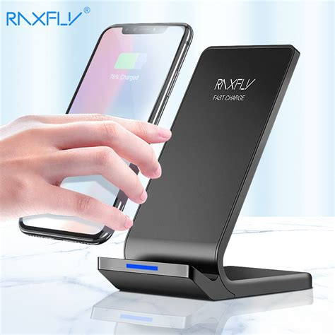 raxfly 10w wireless charger for iphone xs max xr x 8 plus fast charging for samsung s9 s8 plus