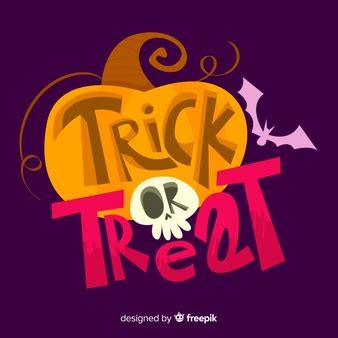 Trick Or Treat Graphic 15 letter vectors photos and psd files free
