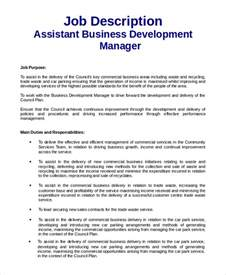 Manager Description by Sle Business Development Description 9 Exles In Pdf Word