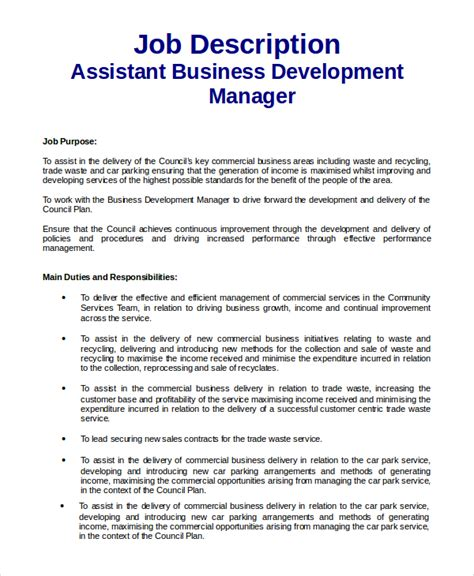 business development description 9 business development description sles sle