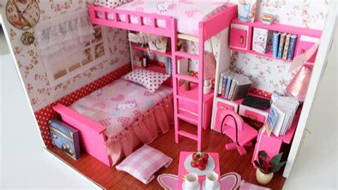 watch doll house diy girly miniature dollhouse part1 tia tia youtube