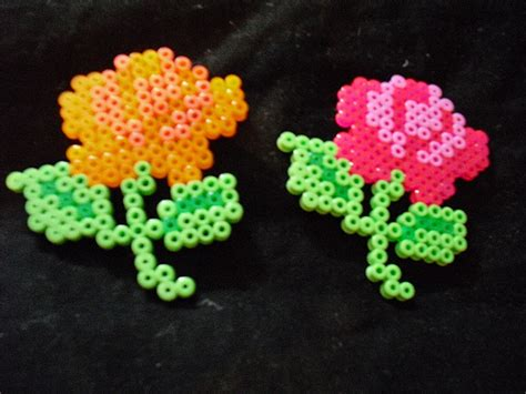 a bead of roses hama flower roses flickr photo
