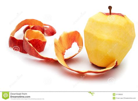 Apple Skins apple with peeled skin stock image image of skin fruit