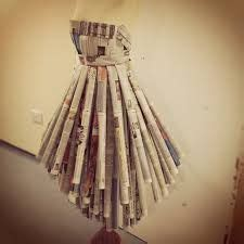 How To Make A Mannequin Out Of Paper Mache - image result for how to make a skirt out of newspaper