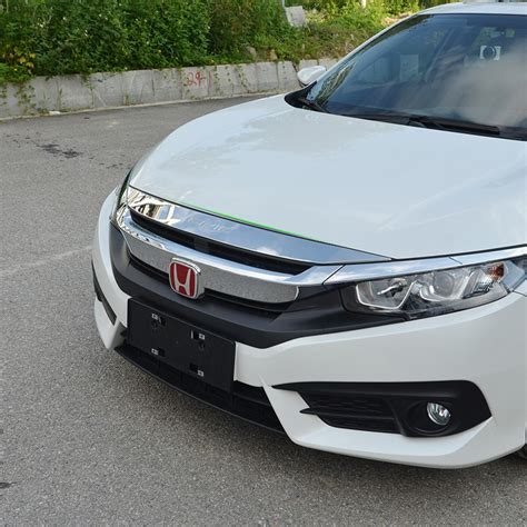 Front Cover Grill Chrome Hrv fit for 2017 honda civic chrome front bonnet grill