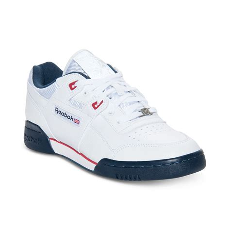 workout sneakers reebok workout plus casual sneakers in white for