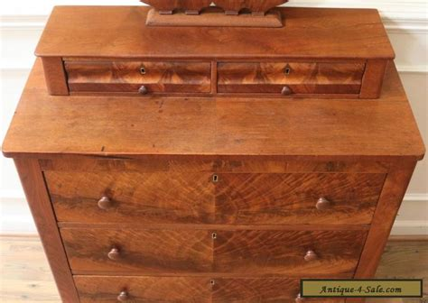 Dresser With Small Drawers On Top Antique Empire Dresser Chest Of Drawers Mirror Top