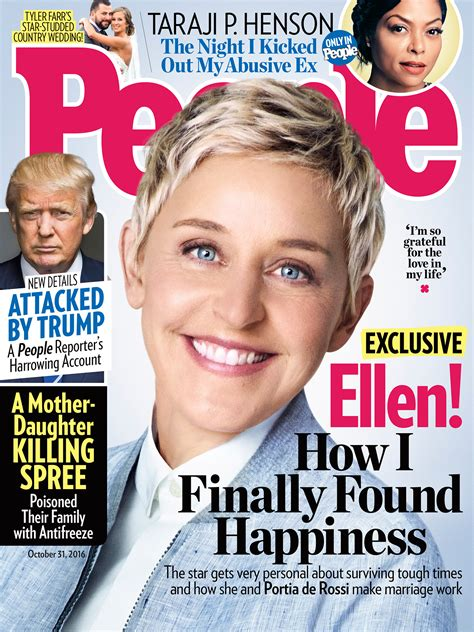 Degeneres On The Cover Of W by Degeneres Talks Finding With Portia De