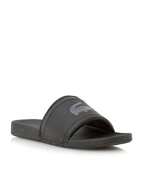 Sandal Casual Black Master lacoste slip on fraisier casual sandals in black for lyst