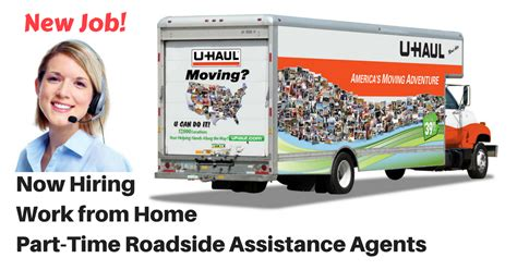 u haul now hiring work from home p t roadside assistance