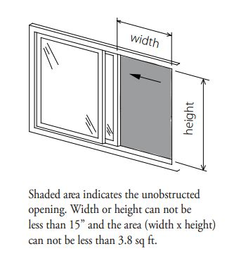 standard bedroom window size question box what is the legal size of a basement bedroom