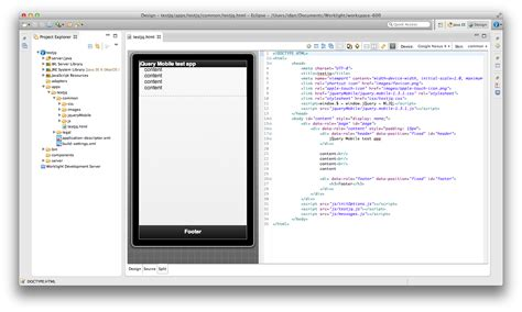layout editor doesn t work eclipse ibm mobilefirst ibm worklight 6 0 rich page editor