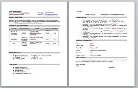 Resume Format For B Tech Freshers Mechanical scientific cv writing services lockwood senior living