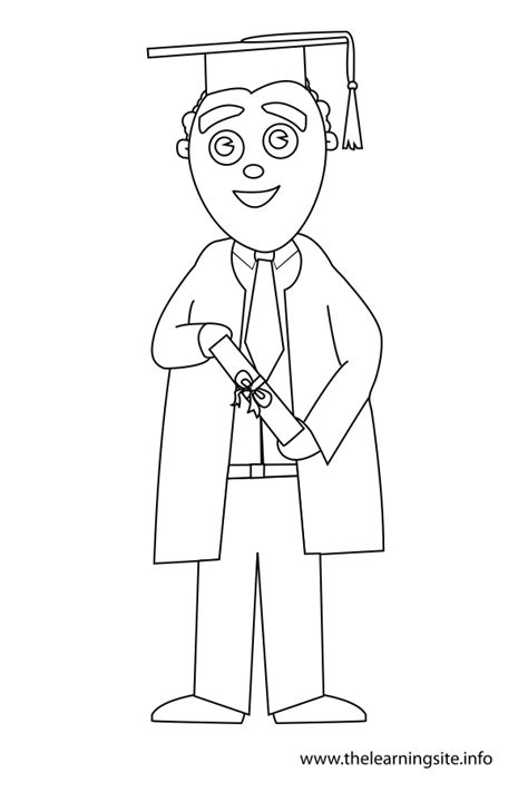 boy graduation coloring page the learning site