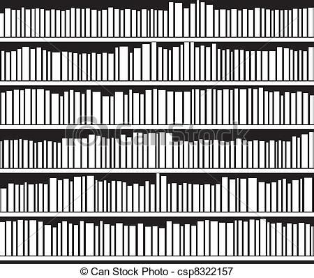 Black Bookcase 2 Shelf Vector Abstract Black And White Bookshelf Royalty Free