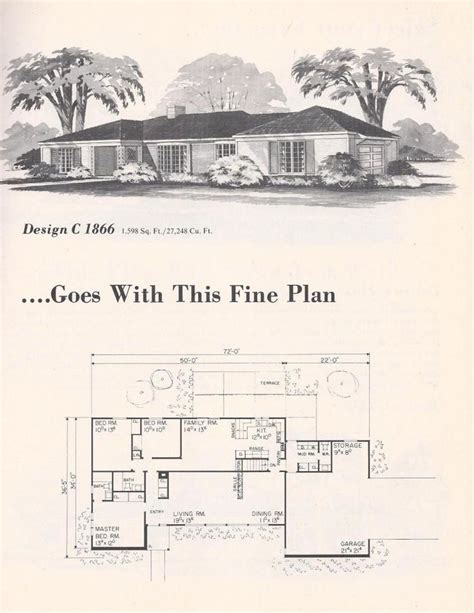 1960 house plans 1960 s house plan house plans pinterest