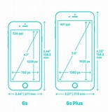 Image result for iPhone 6 screen Dimensions Mm