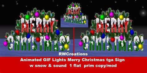 life marketplace animated gif lights merry christmas tga sign banner  snow emitter