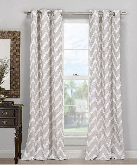 chevron window curtains gray behrakis chevron curtain window dressings pinterest