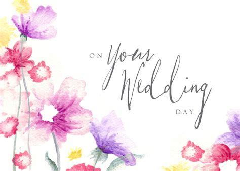 Wedding Card Flowers by Flower Wedding Congratulations Card Achievement By Brookhollow